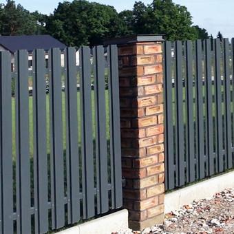 Ilgaamžės skardinės tvoros, nereikalaujančios priežiūros.