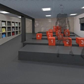 Interjero dizainas - sporto edukacinis centras