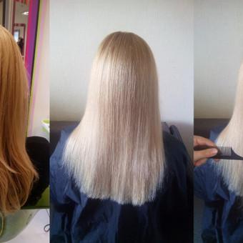 Prabangi (gydomoji) SPA terapija plaukam. Po kiekvienos proceduros plaukai prisotinami reikalingais vitaminais, šilku bei keratinu. Sumažina plaukų pūtimasi, stiprina, plaukai tampa lengviau šuk ...