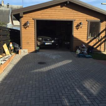 karkasinis garažas dumpių sodai.