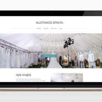 Interneto svetainė su registracija į pasirinktą renginį ir automatiniu etikečių, reikalingų dalyvavimui generavimu. Pritaikyta mobiliems įrenginiams (responsive). www.nuotakosspinta.lt
