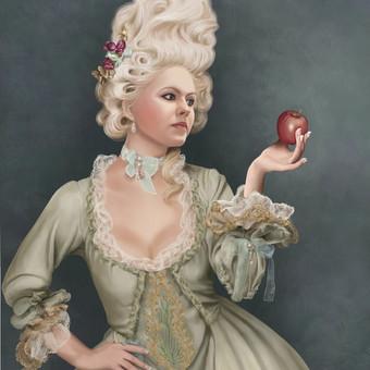Merginos portretas pagal jos pageidavimą.