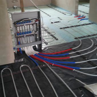 LK sistema įrengtos šildomos grindys