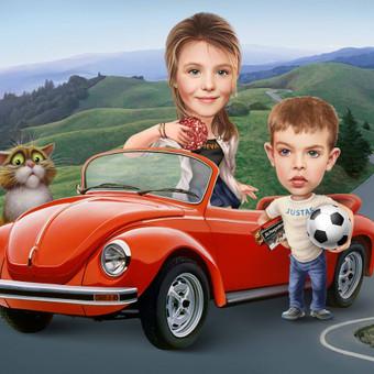 Dovana-paveikslas vaikams