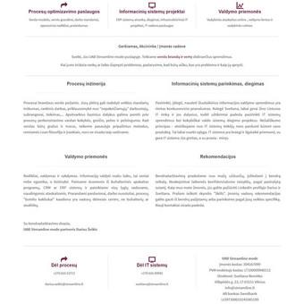 Sukurtas reprezentacinis puslapis, pritaikytas prie WordPress TVS.