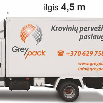 Krovininis mikroautobusas su liftu 20 m3  - 15 EUR/h, užmiestyje 0,40 EUR/h/km