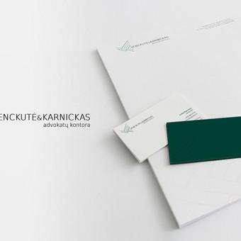 Logotipas / firminis stilius (blankas, vizitinės, prezentacija| Advokatų kontora Venckutė ir Karnickas
