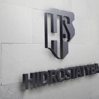 Atnaujintas HIDROSTATYBA logotipas. Iškaba
