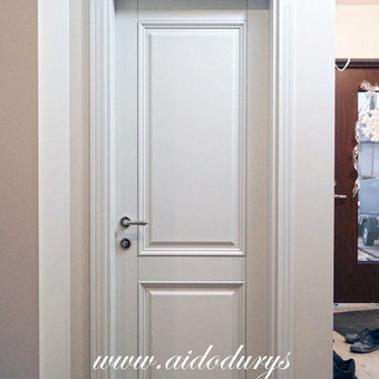 Vidaus durys iš medžio masyvo / Aidas Mazūra / Darbų pavyzdys ID 223031