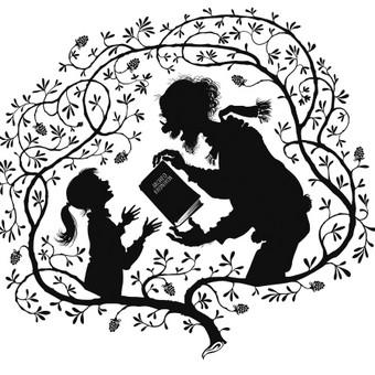 Piešinys vaikškai knygelei.