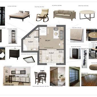 Japoniško stilaus interjero koncepcija
