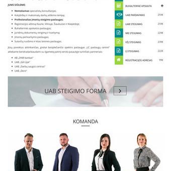 Interneto svetainių kūrimas Kaune / Ernestas Oželis / Darbų pavyzdys ID 229399