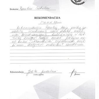 ASMENINIS NT BROKERIS / Paulius Sakalis / Darbų pavyzdys ID 230899