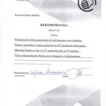 ASMENINIS NT BROKERIS / Paulius Sakalis / Darbų pavyzdys ID 230901