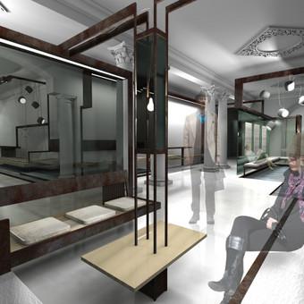 """Baigiamasis darbas: """"Kino ir teatro centro interjeras"""" buvusiuose geležinkeliečių kultūros rūmuose"""