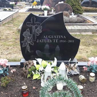 Paminklai, antkapiai, granito plokštės kapo dengimui . . / Anicetas Senulis / Darbų pavyzdys ID 245983