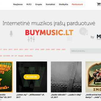 El. prekybos sistema muzikos įrašų ir atributikos agentūrai - www.shownet.lt .