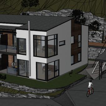 Keturių butų gyvenamasis namas. Norvegija