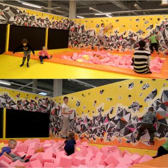 Jump Space, Kaunas, 20kv m. Laipiojimo siena vaikams