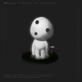 """Fan Art. KODAMA: The Tree Spirit. From """"Mononoke-hime"""". Pradėjau gilitni piešimo žinias. Progresą galima sekti -  http://minimalizmas.deviantart.com/gallery/"""