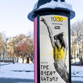 """The Great Gatsby"", maketas kolonai. Klientas: ""Fors Event"""