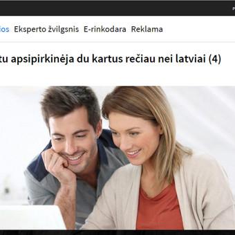 Pranešimas spaudai: http://www.delfi.lt/m360/naujausi-straipsniai/lietuviai-internetu-apsipirkineja-du-kartus-reciau-nei-latviai.d?id=72751686
