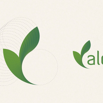 Aloe logotipo dizaino sukūrimas.