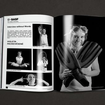 BASF Global leidinio maketas ir fotografijos darbai.