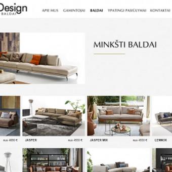 Unikalaus dizaino interneto puslapis. Skirtas itališkų baldų salonui.