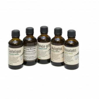 Įvairių rūšių kvapai pirtims, 50 ml: Eukalipto Beržo Medaus-žolelių Medaus-citrinų Santalmedžio Kadagio Naudojimo instrukcija: sumaišykite 2-3 kamštelius kvapo su 5 litrais vandens ...