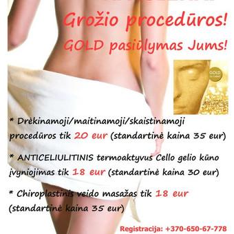 Vasarą juk norisi pasitikti ne tik gražiais kūnais ;) Tad pasigražinti galite už patrauklią kainą:)