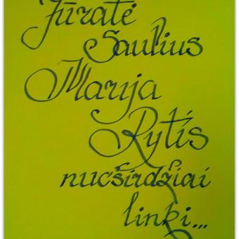 Kaligrafinis rašymas ranka
