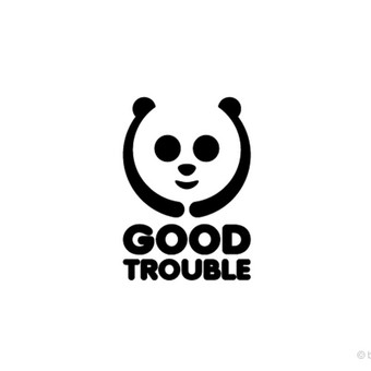 """Good Trouble"" logotipas."