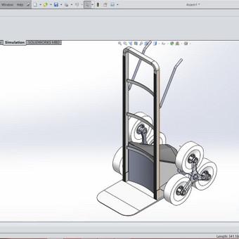3D modelio kūrimas, atliktas SolidWorks programa