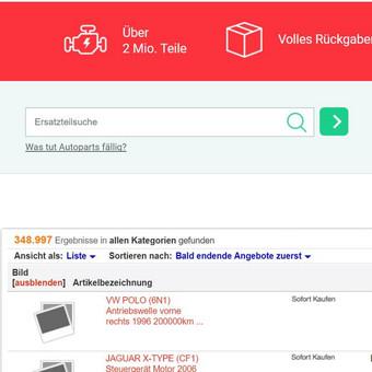Autoparts24 ebay parduotuvės dizainas ir jo kodavimas | http://stores.ebay.de/autoparts24