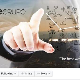 Darbo pavyzdys Nr. 1 : Įmonės veiklą atspindintis Facebook cover (viršelis).