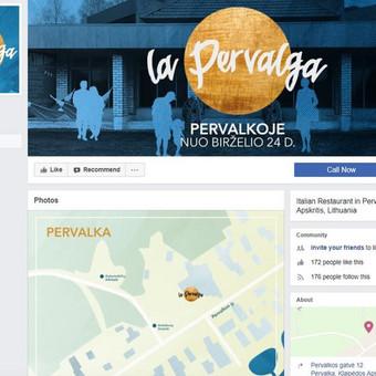 """Darbo pavyzdys Nr. 6 : Naujo itališko maisto langelio """"La Pervalga"""" (Neringoje) Facebook ir Instagram administravimas (įskaitant grafinio dizaino darbus)."""