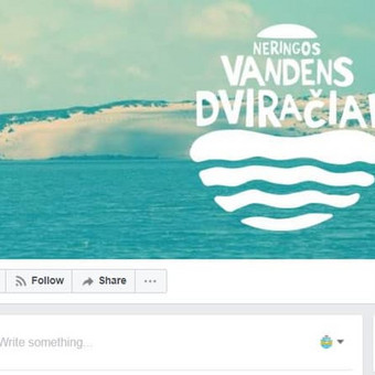 """Darbo pavyzdys Nr. 8 : """"Neringos vandens dviračiai"""" sezoninio verslo Facebook profilio ir Intagram socialinių tinklų administravimas."""