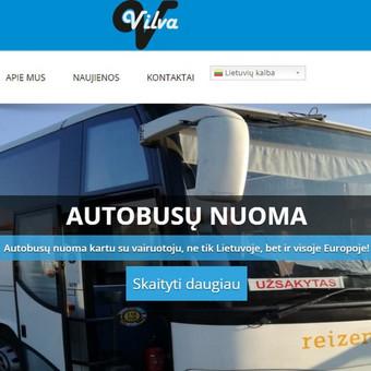 www.vilva.lt sukurtas projektas. Transporto paslaugos.