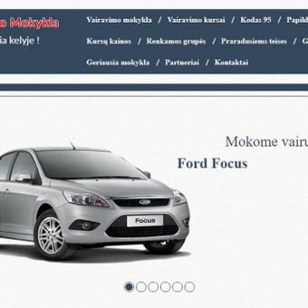 www.pajuriovm.lt administruojamas, perdarytas projektas. Vairavimo mokymo paslaugos.