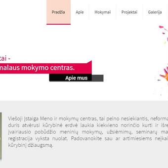 www.menocentras.lt administruojamas, perdarytas projektas.