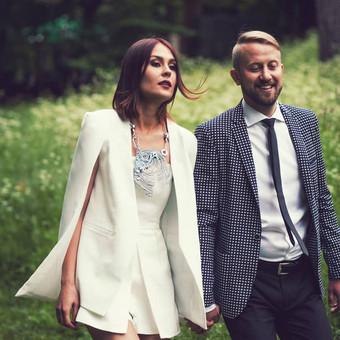 Individualus užsakymas vestuvėms (Kaklo papuošalas ir auskarai)