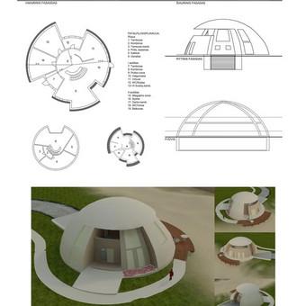 Sodybinio gyvenamojo namo projaktas su planu, vizualizacijomis ir 3D filmuku.