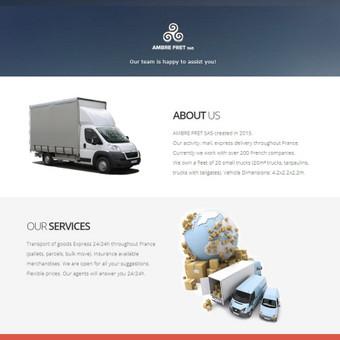Ambrefret.com - Reprezentacinė, trijų kalbų įmonės svetainė.