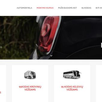Automokykla.lt - Vairavimo mokyklos informacinė svetainė su registracijos forma.