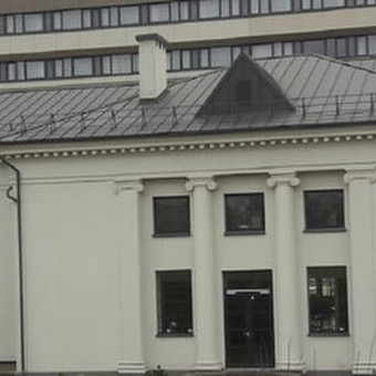 """Klaipėdos """"Aurora"""" teatro atlikta stogo renovacija."""
