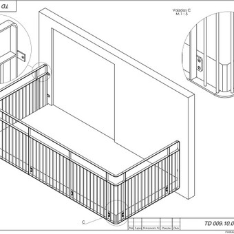 Balkono turėklų vizualizacija
