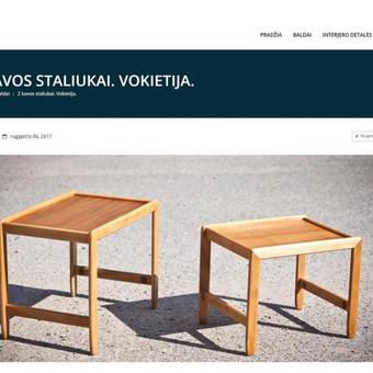 Vintažinių baldų katalogas, Wordpress.