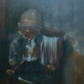 """Parduotas darbas. """"Velykos"""". Drobė, aliejus. 79.5x90cm. 2014m."""
