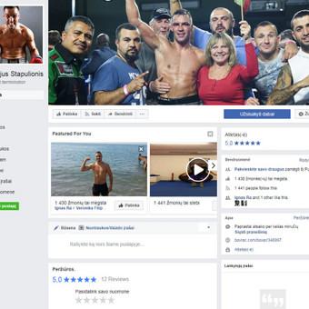 Oficialus boksininko Virgilijaus Stapulionio puslapis | Socialinių tinklų strategija, feisbuko turinio kūrimas, reklamos kampanijų administravimas.